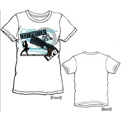 LIVERTINEAGE×PSYCHO-PASS DOMINATOR Tシャツ / WHT - XS 【キャラアニ限定】