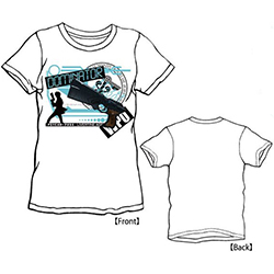 LIVERTINEAGE×PSYCHO-PASS DOMINATOR Tシャツ / WHT - L 【キャラアニ限定】