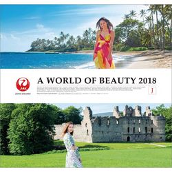 A WORLD OF BEAUTY (JAL) 2018年 カレンダー [CL-462]