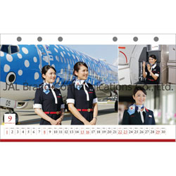 JAL「CABIN ATTENDANT」(卓上判) 2019年カレンダー  [CL-1237]