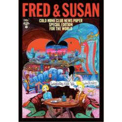 FRED & SUSAN COLD MINK CLUB NEWS PAPER SPECIAL EDITION FOR THE WORLD SEXY STONES STRIPE PANTHER OFFICE SEXY RECORDS STONES