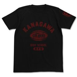 ALL OUT!! 神高ラグビー部カレッジTシャツ BLACK S 【2017年2月出荷予定分】