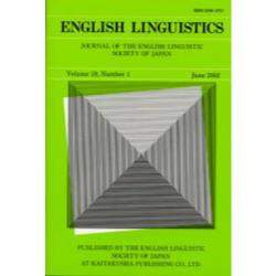 English linguistics Journal of the English Linguistic Society of Japan Volume19Number1