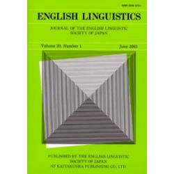 English linguistics Journal of the English Linguistic Society of Japan Volume20Number1