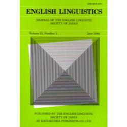 English linguistics Journal of the English Linguistic Society of Japan Volume21Number1