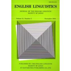 English linguistics Journal of the English Linguistic Society of Japan Volume21Number2