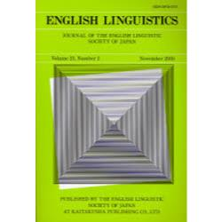 English linguistics Journal of the English Linguistic Society of Japan Volume23Number2(2006November)