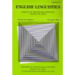 English linguistics Journal of the English Linguistic Society of Japan Volume24Number2(2007December)